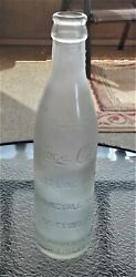 C1900's Rare Coca Cola Straight Sided Clear Tall Bottle Springvale Maine