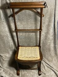 Antique Italian Spqr Clothing Valet Chair With Assembly Instr. Madison Line