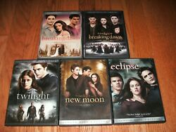 Twilight Complete Set Of 5 On Dvd. 1, New Moon, Eclipse, Breaking Dawn Part 1 And2