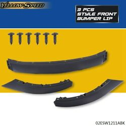 Fit For 2013-2014 Ford Mustang Front Bumper Lip Lower Spoiler Wing Body Kit