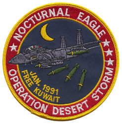 Operation Desert Storm 1991 Gulf War Kuwait Nocturnal Eagle Embroidered Patch