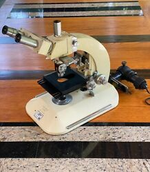 Vintage Reichert Nr. 303 227 Austria Research Microscope Collectable