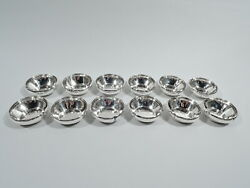 Kalo Bowls - F3l - 12 Chicago Craftsman Nut Dishes - American Sterling Silver