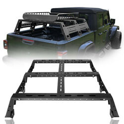 13 High Trunk Bed Rail Rack Luggage Cargo Carrier For Jeep Gladiator Jt 20-21