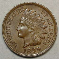 1899 Indian Cent Choice Uncirculated Nice Color 0311-18