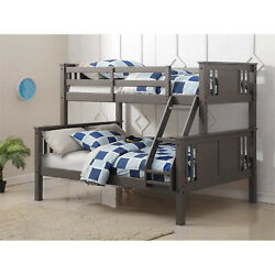 Donco Kids Pd-318tfsg Princeton Twin Size Over Full Bunk Bed Slate Grey