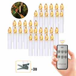 30 Pcs Flameless Candles With Realistic Warm White Y0j6
