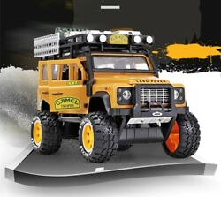 128 Land Rover Defender Modified Alloy Collectible Toy Vehicle Light Kids Gift