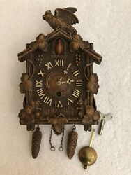 Lux/keebler Large 8 Day Stationary Bird Coo Coo Style Clock.  Rare