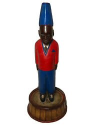 1 Fine French Colonial Vintage Blackamoor Dumb Waiter Servant Display Stand
