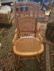 Antique Empire Furniture Lady Lincoln Sewing Rocker Rocking Chair