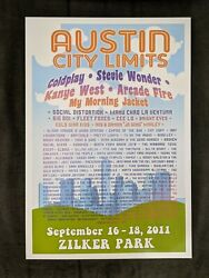 2011 Acl Austin City Limits Music Festival Poster Colorful Texas 13x19 Print