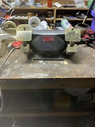 Vintage 6andrdquo Ram Bench Grinder Both Shields R-600 6.4 Amps Works Perfectly Usa