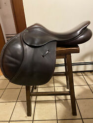 County Stabilizer 17.5 English Saddle High Forward Flap Vg Condition