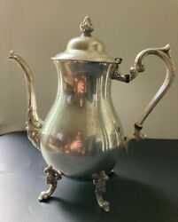 Antique Sheridan 10 Silver Plate Coffee Tea Pot Footed