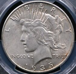 1935 S Peace Dollar Pcgs Ms 64 Creamy Pale Vanilla Well Struck And Free From