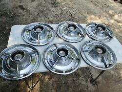 Vintage Chevy Ss Spinner Hubcap Oem 14 Spinner Wheel Covers Set Of 6