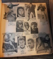 Vintage 1940s Football Scrapbook Loaded 45 Pages Excellent Condition