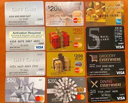 Lot 60 Various Merchant Gift Cards -no Value - Collectible And Novelty Use Only