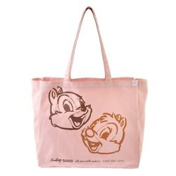 Chip And Dale Tote Bag Pink And039food Textileand039 Official Disney Store Japan