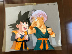 Dargon Ball Animation Cel Gohan And Trunks W/ Douga Blueprint And Official Record