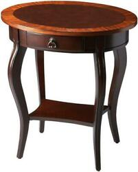 Side Table Cherry Nouveau Antique Brass Distressed Brown Maple Rubber