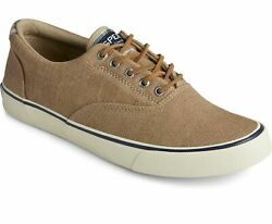 Sperry Top-sider Striper Ii Cvo Canvas Sneakers Khaki Menand039s 12 New
