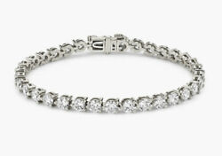 Tennis Bracelet 14k White Gold Made With Cubic Zirconia Gemstone 6.5and039and039