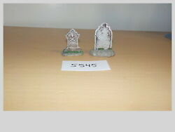 O Scale Lemax Cemetary Tombstones 2 Pcs Model Train Layout Scenery 5545