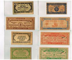 8 Wooden Currency Nickels From Ohio Exceptional Condition