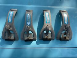 Vintage Quik-n-easy Gutter Rail Roof Rack Tower Clamps For Classic Cars