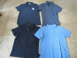 Lot, 4 Mens Size L,large Polo Shirts, Abercrombie And Fitch, Aeropostale