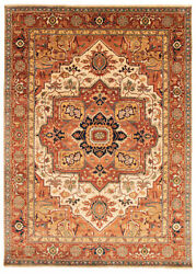 Vintage Geometric Hand-knotted Carpet 9'10 X 13'10 Traditional Wool Area Rug