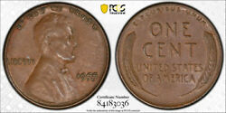 1955 Double Die Obverse Lincoln Wheat Cent Pcgs Au 50 1955/1955 Ddo Cac
