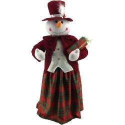 Dancing Mrs. Snowman 36 Inch Christmas Wrapped Gift Box Music Indoor Decoration
