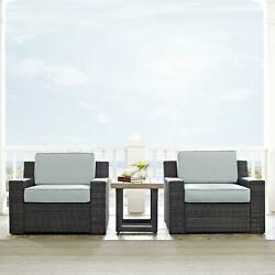 Crosley Beaufort 3 -piece Outdoor Wicker Seating Set With Mist Cushion