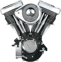 S And S Cycle V80 Long-block Engines Wrinkle Black