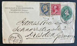 1890 Wilmington De Usa Postal Stationery Uprated Cover To Dresden Germany