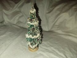 Vintage 9 1/2in Bottle Brush Christmas Tree Made In Japan C/a Early 1950and039s 11