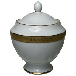 Small Vintage 1980and039s Fairmont Fine China Porcelain Linton Gold Domed Lidded Urn