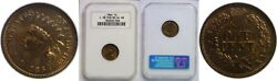 1864-l Indian Head Cent Ngc Ms-64 Rb