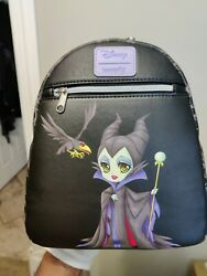 Maleficent Mini Backpack W/ Diablo Villains By Loungefly - Free Shipping