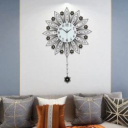 Wall Clock Modern Large Silent Decoration for Home Kitchen Living Room Office