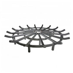 Titan Great Outdoors 36 Wagon Wheel Fire Grate, Decorative Wood Burning Lifted