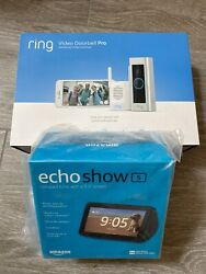 New Ring 8vr1x8-0enb Video Doorbell Pro And Chime Pro Bundle With Show 5.