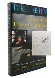 Dr. John And Jack Rummel Under A Hoodoo Moon Signed The Life Of Dr. John The Night
