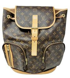 Louis Vuitton Backpack Bosphore Brown Monogram Coated Canvas And Leather Pockets