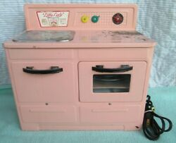 Vintage Little Lady Electric Stove/oven, Pink, Heats Up, 1950s. See Caution