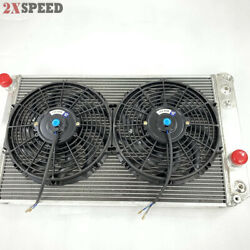 3 Row Performance Radiator+12 Fans Fit 82-02 Chevy S10 V8 Conversion Only
