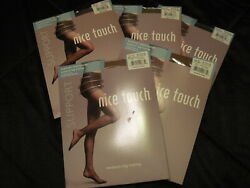 5 Shiny Silky Sears Nice Touch Control Top Pantyhose Various Shades Size Ef